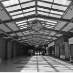 Interior of Lackawanna Station showing the extraordinary structure remains intact